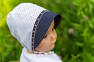 Detské čiapky - Baby čepiec Folk & dots - 9535028_