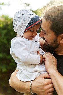 Detské čiapky - Baby čepiec kvietky & folk - 9536807_