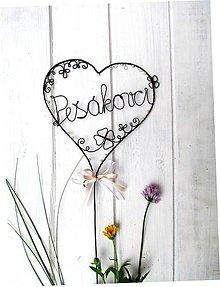 Dekorácie - Svadobné veľké srdce - 9534695_