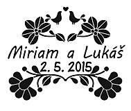 Darčeky pre svadobčanov - Svadobné etikety na fľaše - FOLK III - 9535948_
