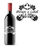 Darčeky pre svadobčanov - Svadobné etikety na fľaše - FOLK III - 9535949_