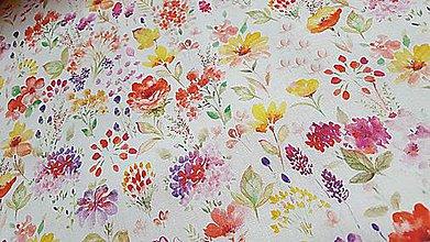 Textil - leto plné kvetov - 9537152_