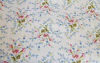 Textil - romantické kvetinky - 9537231_
