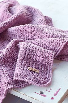 Textil - Detská deka MERINO: staroružová - 9538916_