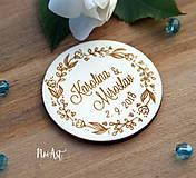 Darčeky pre svadobčanov - Svadobné magnetky kvietkový venček - 9539918_