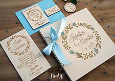 Darčeky pre svadobčanov - Svadobné magnetky kvietkový venček - 9539925_