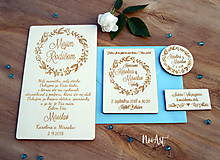 Darčeky pre svadobčanov - Svadobné magnetky kvietkový venček - 9539929_