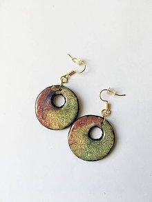 Náušnice - farebné kruhy - 9537348_