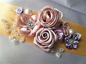Opasky - Kvetinový opasok - 9538088_