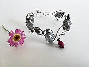 Sady šperkov - Šedá elegancia ...     náramok a náušnice - 9539031_