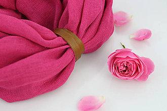 Šatky - Jemný pôvabný nákrčník prekrásnej tmavoružovej farby - 9539714_