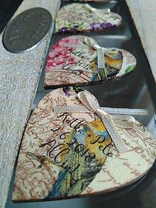 Darčeky pre svadobčanov - drevené magnetky vintage - 9537712_