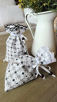 Úžitkový textil - Sada dvoch ozdobných vrecúšok - 9539211_