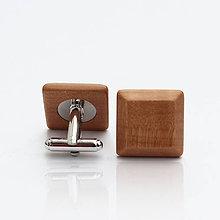 Šperky - Drevené manžetové gombíky ELEGANCE - hruška - 9538180_
