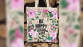 Iné tašky - ♥ Plátená, ručne maľovaná taška ♥ - 9539922_