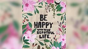 Iné tašky - ♥ Plátená, ručne maľovaná taška ♥ - 9539930_