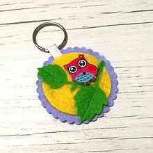 Kľúčenky - Klúčenka SOVIČKA (žltá) - 9537369_