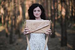 - Kožená kabelka PEAK botanic (reálna papraď) - 9539984_