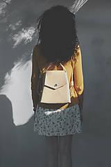 Batohy - Kožený batoh, elegantný dámsky ruksak - 9539985_