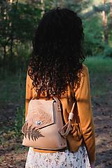 - Kožený batoh SHAPE botanic (reálna papraď) - 9540001_