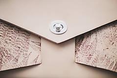 Kabelky - Kožená kabelka Veľká RIBBON botanic (reálna papraď) - 9540013_