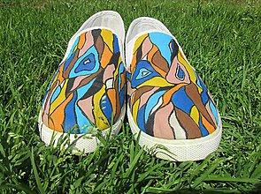 """Obuv - Maľované tenisky """"Colours of  summer"""" - 9539182_"""