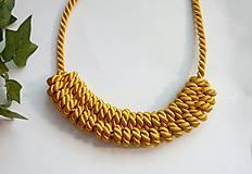 Uzlový náhrdelník - Zlaté slnko