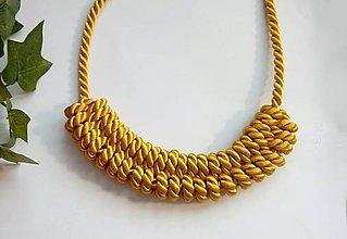 Náhrdelníky - Uzlový náhrdelník - Zlaté slnko - 9537906_