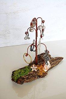 Dekorácie - Stojan na náušnice Medený stromček 2 - 9538841_