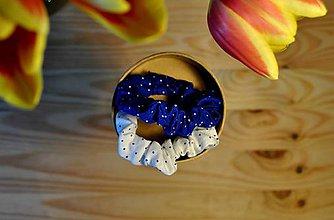 Ozdoby do vlasov - Modré gumičky - 9540074_