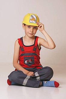 Detské oblečenie - Detské montérky sivé - 9537615_
