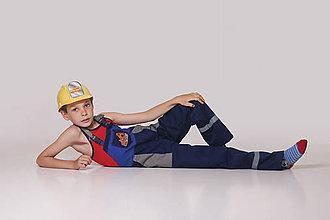 Detské oblečenie - Detské montérky modré v1 - 9537685_