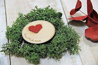 Darčeky pre svadobčanov - S láskou vyšité na červeno - 9537381_