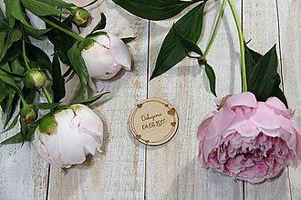 Darčeky pre svadobčanov - Drevená svadobná magnetka - 9540107_