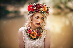 Náhrdelníky - Letný boho kvetinový náhrdelník - 9538725_