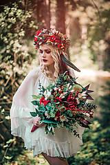 Ozdoby do vlasov - Bohatý kvetinový letný boho venček - 9538758_