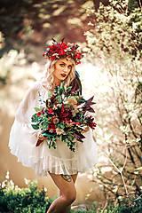 Ozdoby do vlasov - Bohatý kvetinový letný boho venček - 9538759_
