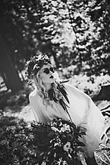 Ozdoby do vlasov - Bohatý kvetinový letný boho venček - 9538762_
