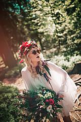 Ozdoby do vlasov - Bohatý kvetinový letný boho venček - 9538763_