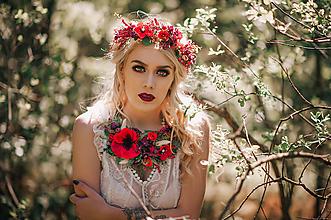 Náhrdelníky - Letný boho kvetinový náhrdelník - 9539147_