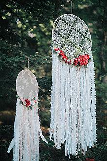 Dekorácie - Bohémsky lapač s kvetinami väčší - 9539371_