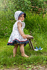 - Sukienka + čepiec Kvietky & folk  - 9539329_