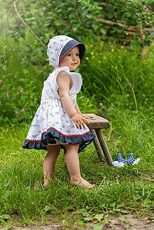 Detské súpravy - Sukienka + čepiec Kvietky & folk - 9539329_