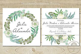 Papiernictvo - Svadobné oznámenie Tiziana - 9539799_