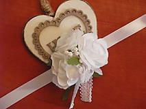 Náramky - Biele kvetinové náramky s čipkou - 9538161_