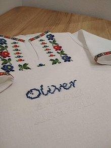 Detské oblečenie - Krstná košieľka - 9539744_