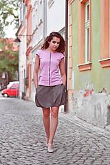 Topy - Tenká šedá linie (kr. rukáv) - 9539726_