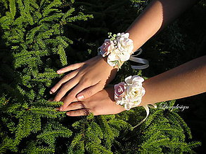Náramky - svadobný náramok pre družičku - 9537634_