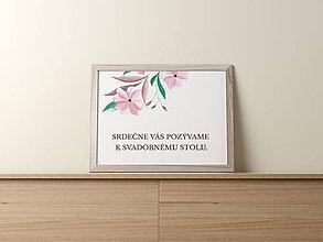 Papiernictvo - Pozvanie k svadobnému stolu Čin Čin - 9540732_