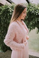 - Svadobné bolero-púdrovo ružové - 9541844_